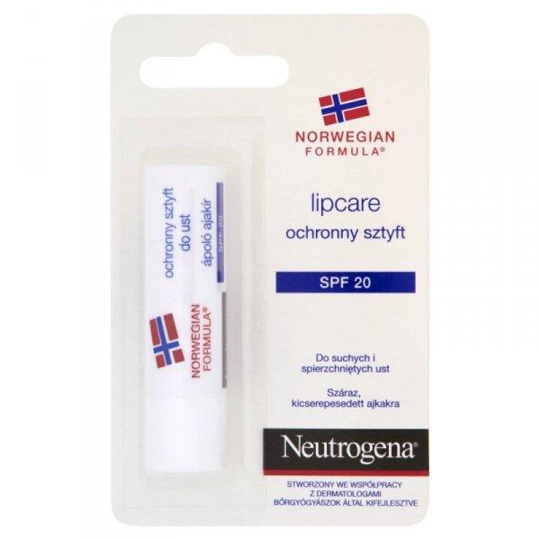 Neutrogena Formuła Norweska Ochronny sztyft do ust Lipcare SPF 20  4.80g