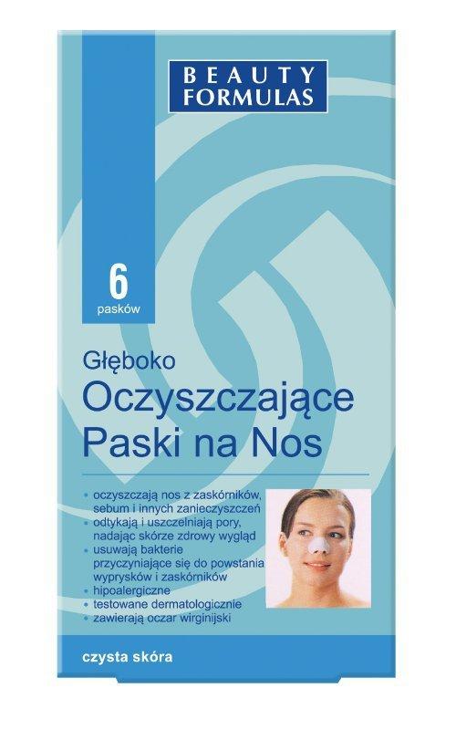 Beauty Formulas Skin Care Głęboko oczyszczające paski na nos