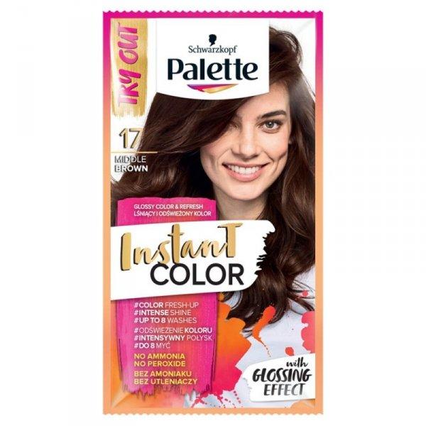 Palette Instant Color Szamponetka koloryzująca Średni Brąz nr 17  1szt