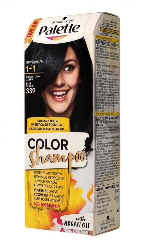 Palette Color Shampoo Szampon koloryzujący  nr 1-1 (339) Granatowa Czerń  1op.