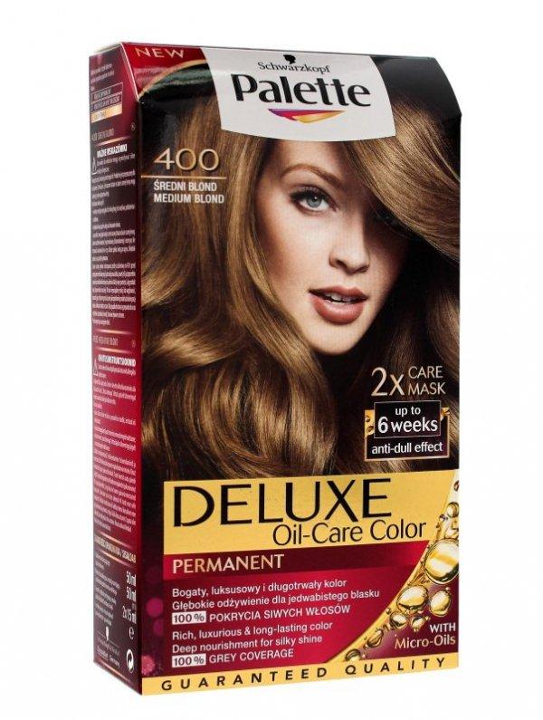 Palette Deluxe Farba do włosów permanentna nr 400 Średni Blond  1op.