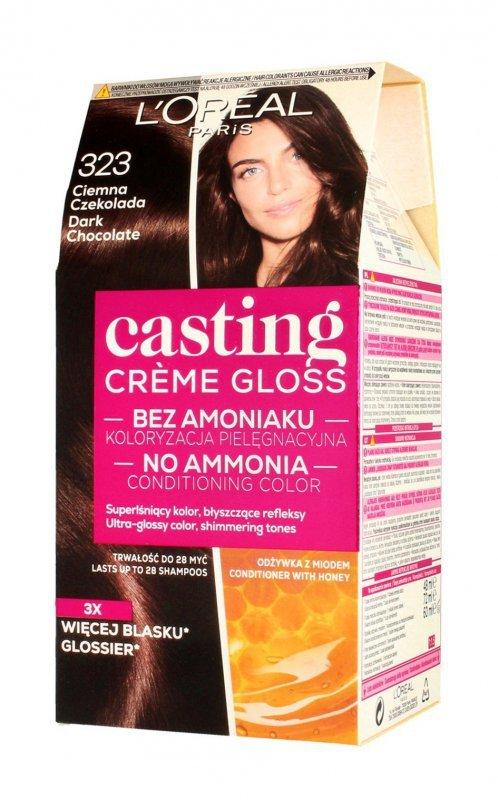 Casting Creme Gloss Krem koloryzujący nr 323 Ciemna Czekolada 1op.