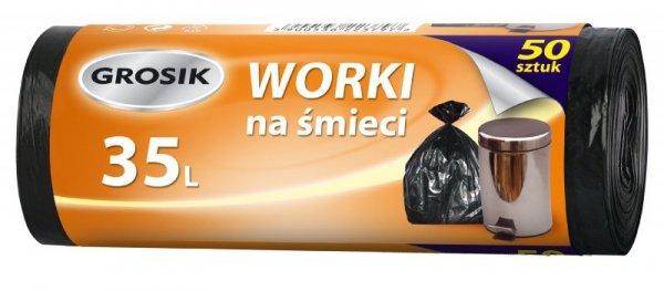 Sarantis Jan Niezbędny Grosik Worki na śmieci HD 35L/50sztuk