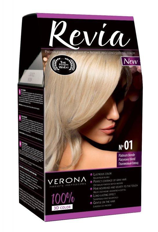 Verona Farba do włosów nr 01 PLATYNOWY BLOND  50ml
