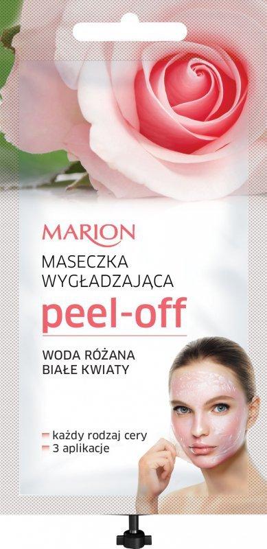 Marion Spa Maseczka Peel Off  wygładzająca - Woda Różana i Białe Kwiaty  18ml