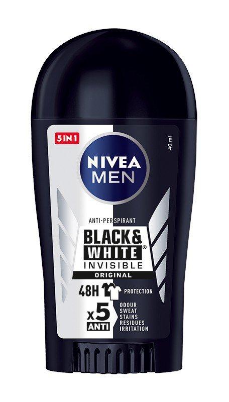 Nivea Dezodorant INVISIBLE Black&White sztyft męski  40ml