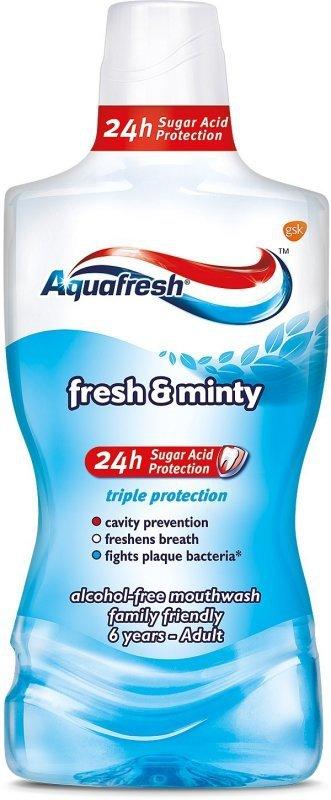 Aquafresh Płyn do ust Triple Protection Extra Fresh &  Minty 500ml