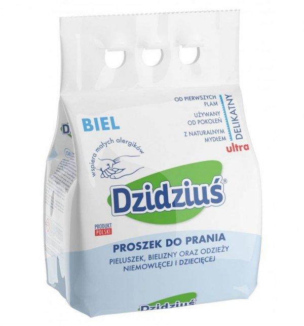 Dzidziuś Proszek do prania pieluszek, bielizny, odzieży niemowlęcej Biel 3kg