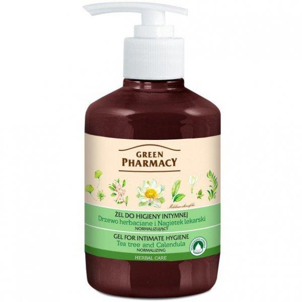 Green Pharmacy Żel do higieny intymnej normalizujący Drzewo Herbaciane i Nagietek 370ml