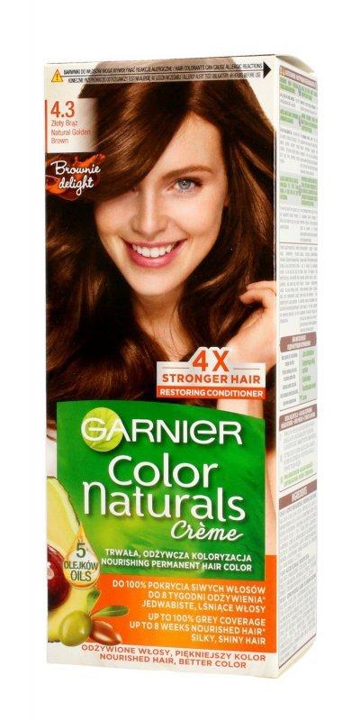 Garnier Color Naturals Krem koloryzujący nr 4.3 Naturalny Złoty Brąz 1op