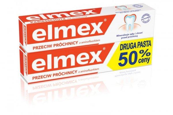 Elmex Pasta do zębów + druga za 50% ceny  75ml x 2