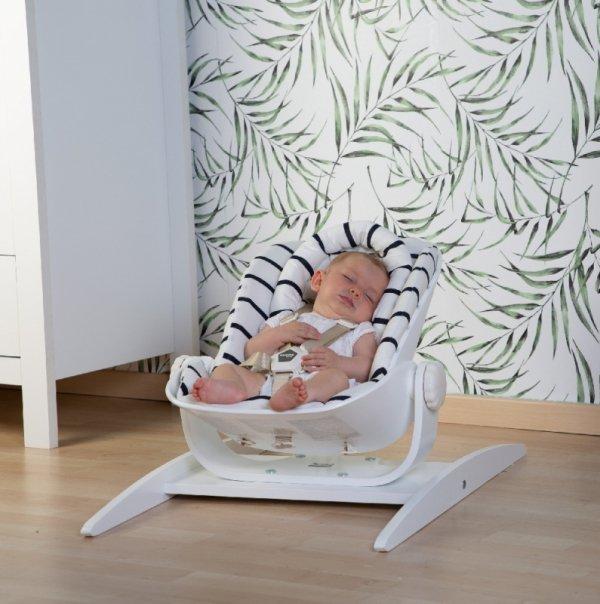 Childhome Leżaczek niemowlęcy na płozach Wood Rock White