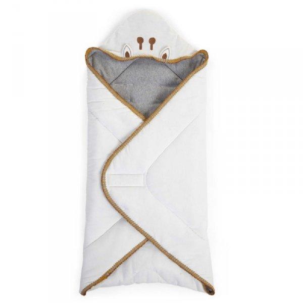 Childhome Otulacz uniwersalny 75 x 75 cm Jersey Crochet Ecru