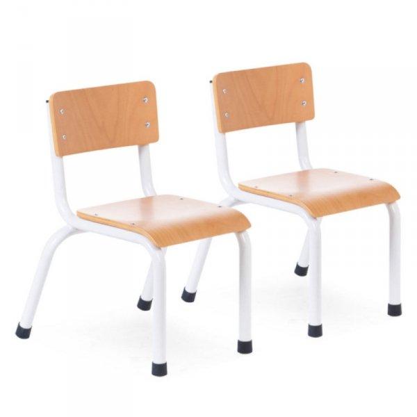 Childhome Krzesełka dziecięce Natural White - 2 sztuki
