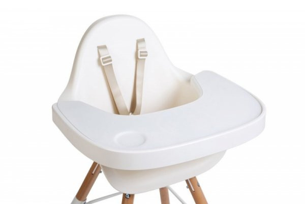 Childhome Tacka ABS do krzesełka Evolu 2 + mata silikonowa White