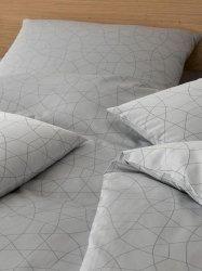 Elegante pościel bawełniana egipska żakardowa Circle silber-grau 2330 135x200