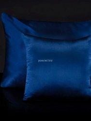 Jedwabna poszewka na poduszkę navy blue 40x40, 50x70