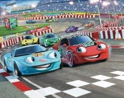 Tapeta 3D Walltastic auta 2