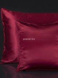 Malbery jedwabny zestaw pościeli czerwień 220x240