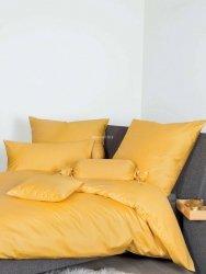 Janine pościel bawełniana egipska jednolita żółta 200x220