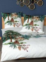 Janine pościel świąteczna mako-satin Modern art tanne 42084 155x200