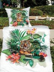 Janine pościel mako-satin Modern art 42072 tygrys 155x200