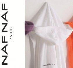 Elegancki szlafrok unisex Naf Naf biały S, L