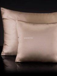 Jedwabna poszewka na poduszkę beige  50x70