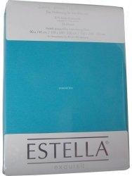 Prześcieradło zwirn-jersey z gumką Estella turkis