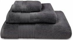 Nowoczesny ręcznik jednolity czarny 700g - 30x50, 50x100, 70x140