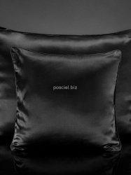 Jedwabna poszewka na poduszkę czarna 40x40, 50x70