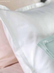 Exclusive Curt Bauer poszewka na poduszkę mako-brokat Uni white