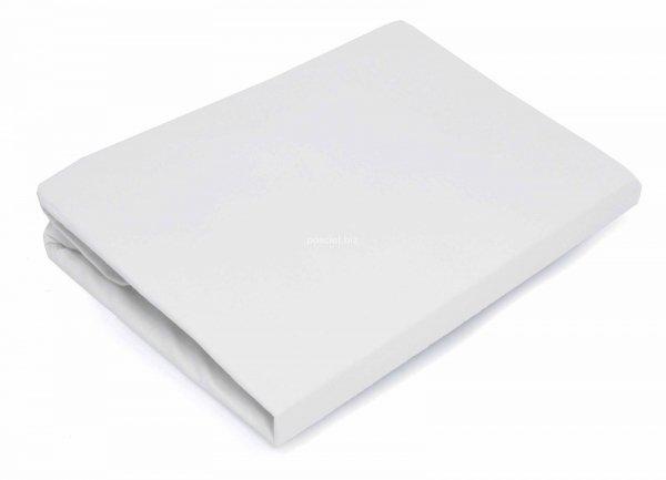 Prześcieradło bawełniane białe z gumką 160x200