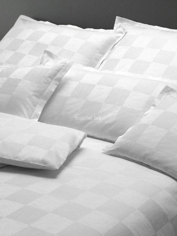 Elegante pościel bawełniana żakardowa Merano biała 2265 135x200