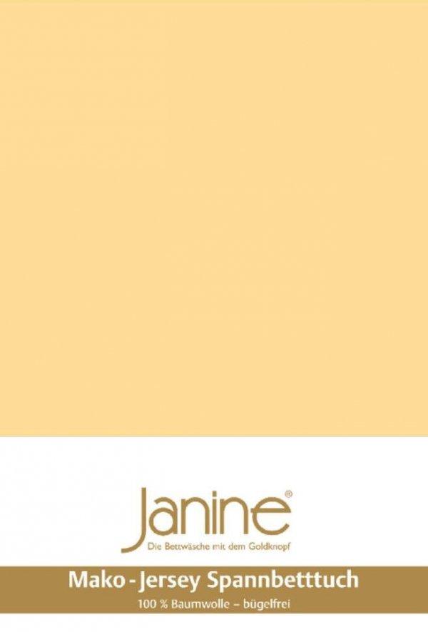 Janine prześcieradło jersey z gumką vanille