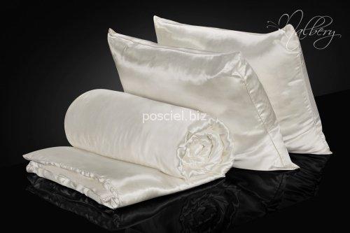 Zestaw jedwab-jedwab: kołdra jedwabna całoroczna Malbery 160x200+ poduszki