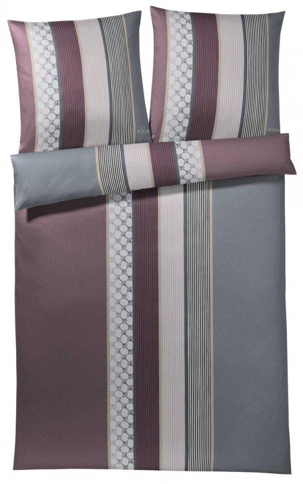 Joop pościel mako-satin Cornflower stripes deep wine 4069 200x220