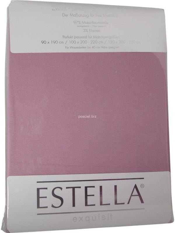 Prześcieradło zwirn-jersey z gumką Estella flieder