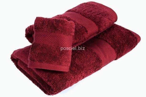 Ręcznik jednolity bordo 700g - 30x50, 50x100, 70x140