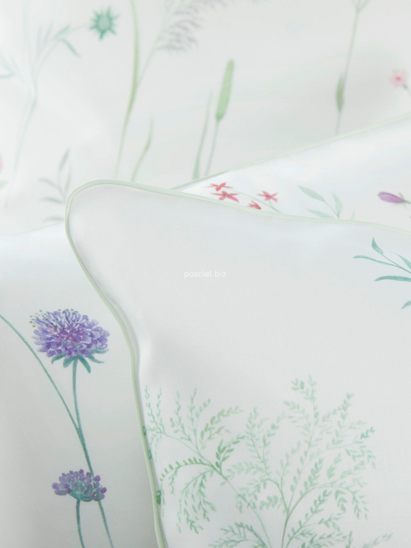 Elegante pościel bawełniana egipska biała  2234 155x200