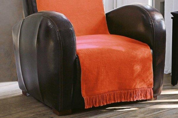 Moca desgin koc jednolity pomarańcz na fotel