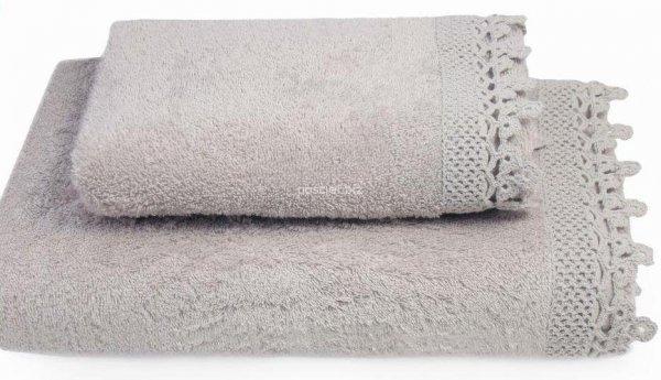 Ręcznik Iga cappucino z koronką 50x90, 70x140