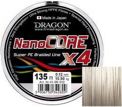 Plecionka DRAGON Nano Core jasnoszara 0,10mm/270m