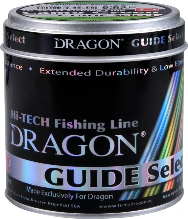 Żyłka Dragon GUIDE SELECT Crystal Clear 600 m bezbarwna 0.23 mm/6.40 kg