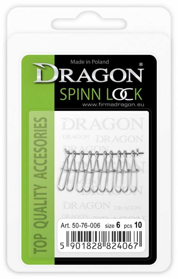 Agrafka DRAGON Spinn Lock no. 2/0 morska 5 szt.