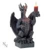 świecznik w kształcie smoka czarne smoki gotyckie prezenty i gadżety ze smokami