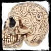 celtycka czaszka rzeźbiona szkatułka w kształcie ludzkiej czaszki gotyckie mroczne gadżety prezenty