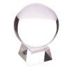 szklana kula kryształowa do dekoracji lub do wróżenia - kula o średnicy 10cm, z podstawką