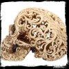 Celtycka Dekadencja - ażurowa czaszka figurka dekoracyjna