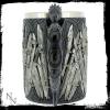 gadżety i prezenty w stylu fantasy - kufel ze smokiem ozdobiony mieczami